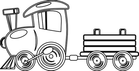 train outline clip art  clkercom vector clip art