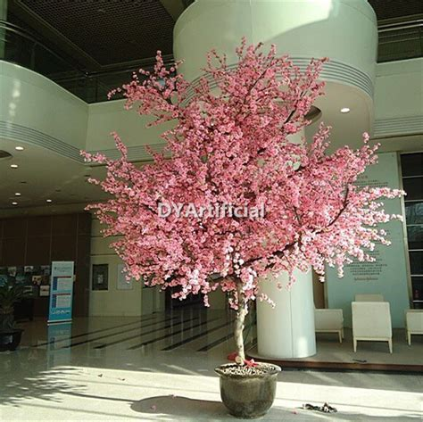 280cm potted pink artificial blossom tree dongyi
