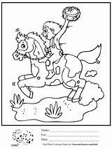 Horseback Drawing Riding Coloring Boy Drawings Getdrawings sketch template