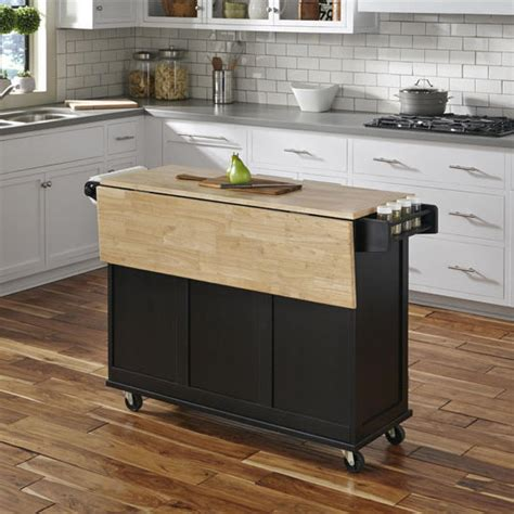 liberty wood top mobile kitchen cart  wood  stainless