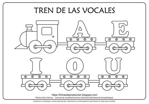 hojas de trabajo de las vocales para preescolar fichas de educaci 211 n preescolar tren de las