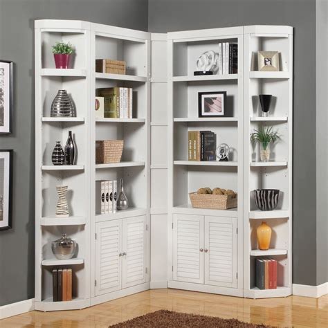 Corner Bookcase by House Boca Corner Bookcase Cottage White