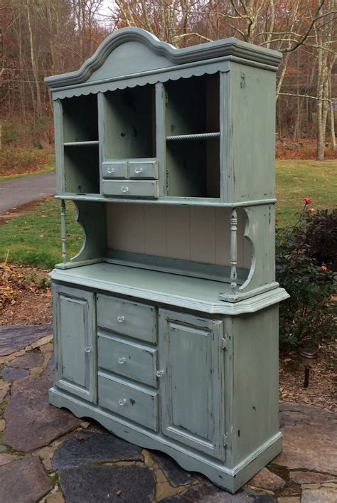 Farmhouse hutch painted with chalk paint