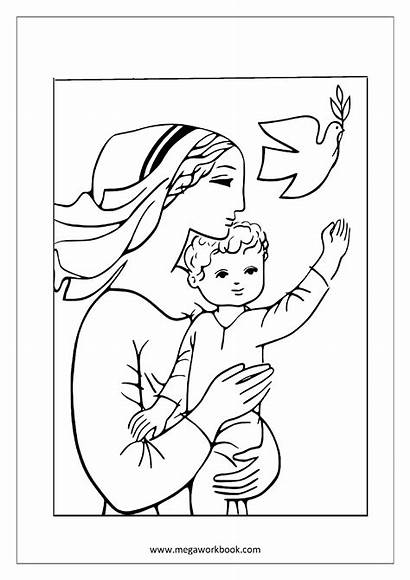 Coloring Mother Pages Printable Child Mothers Sheets