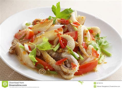 How to make spicy thai shrimp mango salad (gỏi xoài tôm thái lan) delightful, juicy, scrumptious, spicy thai mango salad recipe. Close Up Thai Spicy Seafood Salad Stock Photo - Image of seafood, cuisine: 60746734