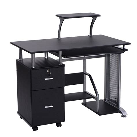 laptop desk with printer shelf black computer desk with printer shelf desks office