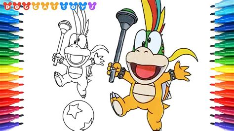 draw super mario bros lemmy  koopalings  drawing coloring pages   kids