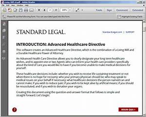 living will healthcare legal forms software standard legal With legal document comparison software