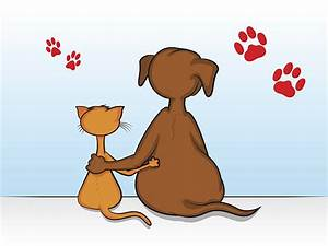 Royalty Free Dog And Cat Together Clip Art, Vector Images ...