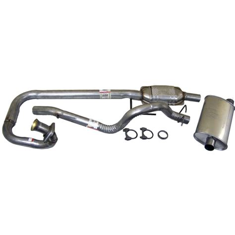 jeep stock exhaust crown exhaust system new jeep wrangler 1997 1999 52018934k