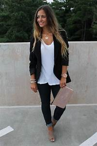 How to Wear It Black Blazer Black Blazer White Tee and ...