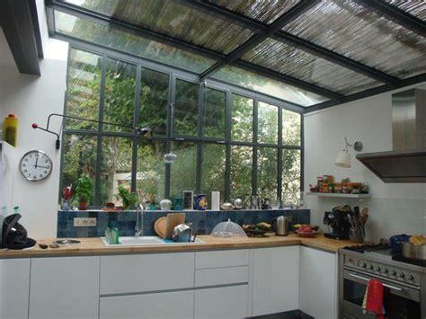 cuisine verrière donnant sur jardin extension la maison