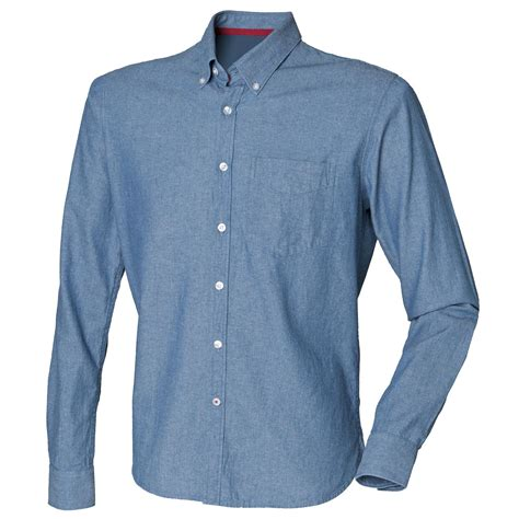 new front row mens slim fit casual classic cotton chambray shirt blue s ebay