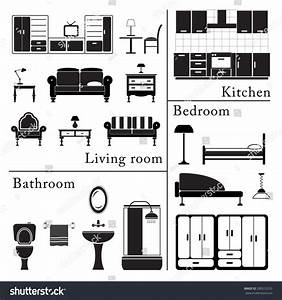 Symbols black and white kitchen pictures to pin on for Interior design kitchen symbols