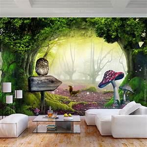 Fototapete Kinderzimmer Wald : vlies fototapete wald fantasy mehrfarbig pilz tapete ~ Watch28wear.com Haus und Dekorationen