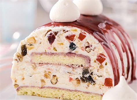 cuisine vegetarienne buche glacé nougat dessert noel gourmand
