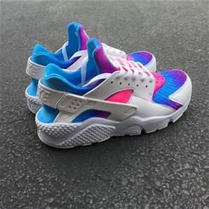 Nike Huarache Rainbow Soles custom new from JKLcustoms on Etsy