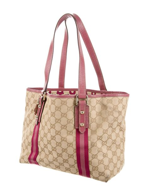 gucci leather trimmed tote bag handbags guc