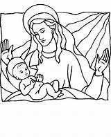 Coloring Pages Religious Jesus Christmas Printable Birth Mary Sheets Angel Sheet Bible Religion Coloringpages101 sketch template