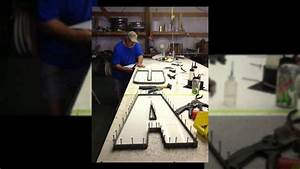 how hci channel letter signs are fabricated youtube With letter fabrication