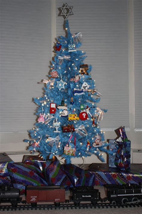 hanukkah bush  jewish themed christmas tree