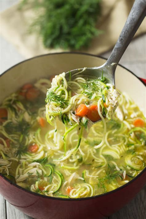 chicken and dill soup chicken zoodle soup with dill tastes lovely