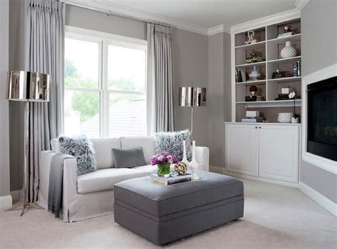 Wohnzimmer Gestalten Grau Weiss by White And Gray Living Room Features A Wall Painted Gray