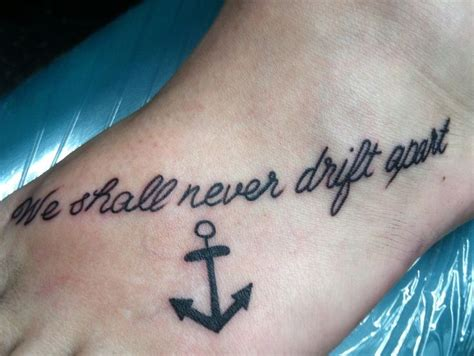 anchor foot tattoo  friend tattoo matching tattoo