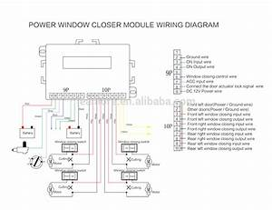 Power Window Module Closer Wiring Diagram