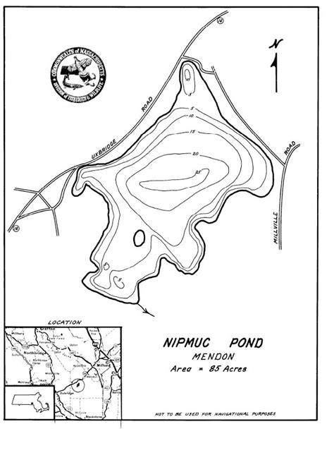 nipmuc pond map mendon ma