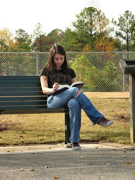 Reading Girl  Free Stock Photo  Teenage Girl Reading A Book  # 674