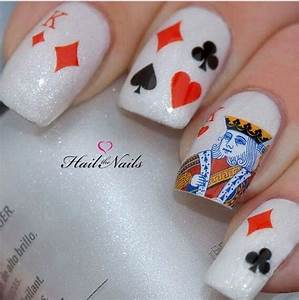 Cute playing card nail art/decals | NAILS | Pinterest