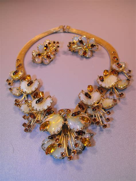 hobe demi parure signed dated  clives unique jewelry