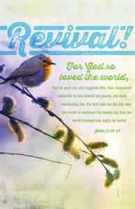 Revival Church Bulletin Covers