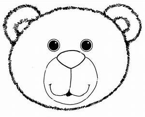 bear head template clipart best With polar bear face template