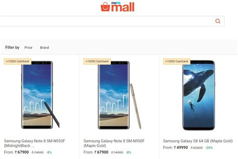 paytm offering the galaxy s8 note8 and more with upto rs