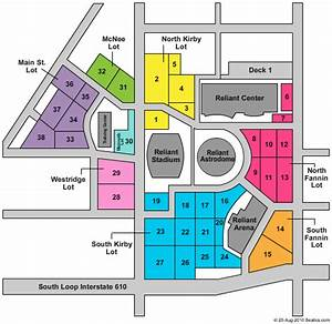 Cleveland Browns Stadium Seating Chart Reliant Stadium Parking Lot Seating Chart