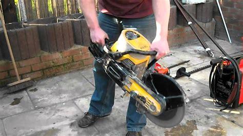 concrete cutter partner k650 petrol saw start up and test cut