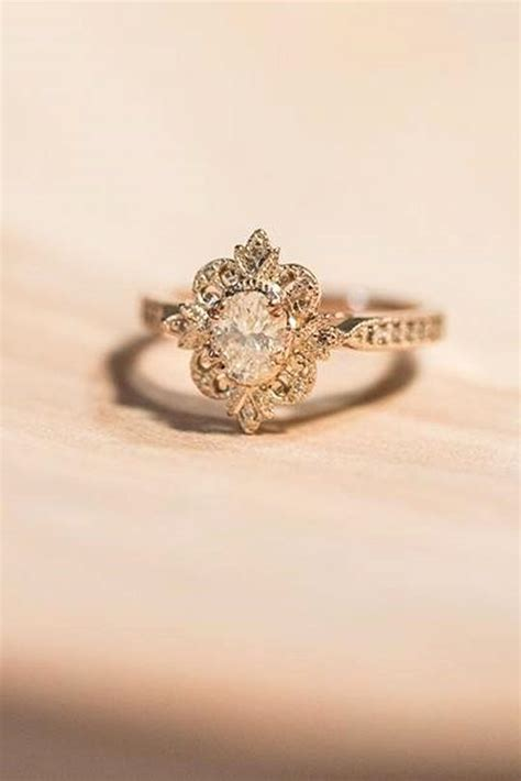 vintage gold engagement rings www imgkid the image