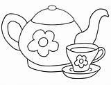 Tea Coloring Tea2 sketch template