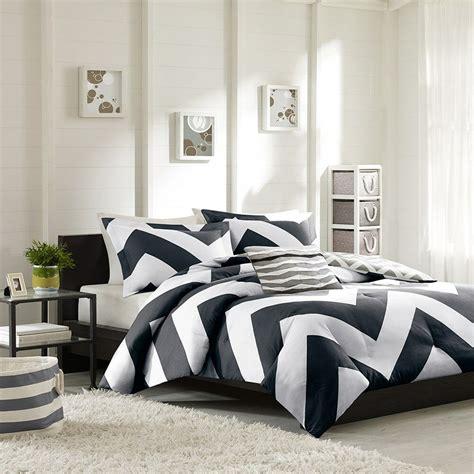 Duvet Covers Black And White by Beautiful Modern Black White Grey Stripe Sport Chevron