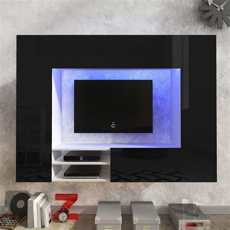 Tv Wand Hochglanz by Der Hochglanz Mediawand Wohnwand Led Tv Wand Schwarz 169 2