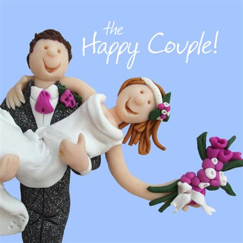 happy couple wedding greeting card  lump   cards