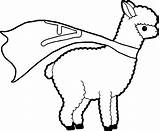 Llama Llamacorn Alpaka Getcolorings Ausmalbilder Getdrawings Alpacas Wecoloringpage Colorings Kleurplatenl Alapaca sketch template