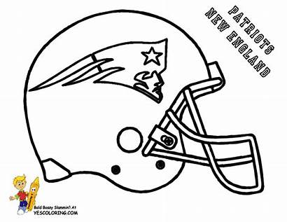 Football Bowl Super Coloring Pages Patriots England