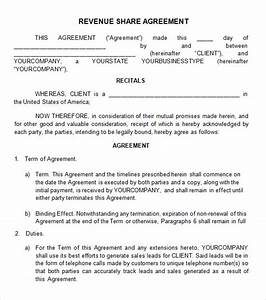 Profit sharing agreement 7 free pdf doc download for Profit share agreement template