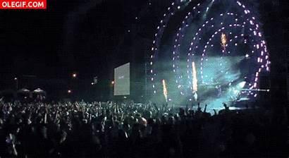 Concert Crowd Gifs Edm Rock Animated Fuegos