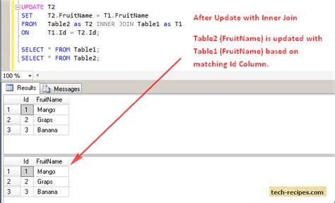 sql update from another table image gallery sql update