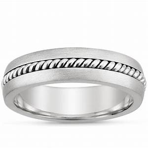 entwined inlay ring in 18k white gold With entwined wedding rings