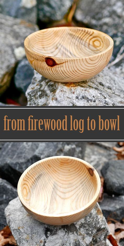 firewood log  bowl  woodturning project